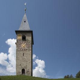 Doppelkarte quadratisch blütenweiss - ref. Kirche Parpan - MSW8139