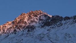 Doppelkarte A5 / hochweiss - Parpaner Rothorn im Abendlicht - 1259928