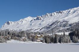 Doppelkarte A5 / hochweiss -Valbella im Winter - PC298561