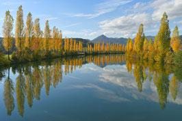 Doppelkarte A5 naturweiss  -   Herbststimmung am Aarekanal  -  MSW0201