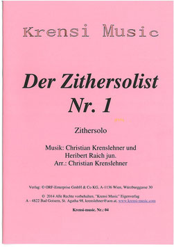 Notenheft: Zithersolist Nr. 1