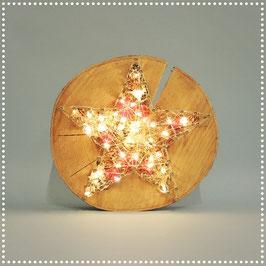 Sternenrondelle mit elektr. Beleuchtung   rotgold, ca. Ø 25 cm