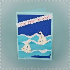 Schiffe Geburtstagskarte