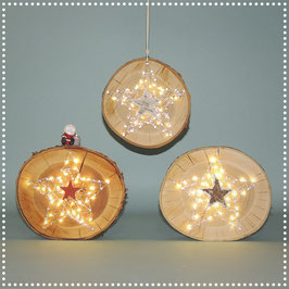 Sternenrondellen mit elektr. Beleuchtung    klein, ca. Ø 18 cm