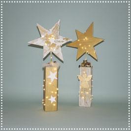 Stern auf Ständer mit elektr. Beleuchtung