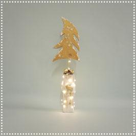 Weihnachtsbaum mit elektr. Beleuchtung   gold, ca. 47 cm