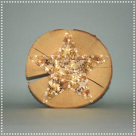 Sternenrondelle mit elektr. Beleuchtung   gold, ca. Ø 25 cm
