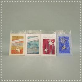Weihnachtskarten, div. Sprüche und Farben