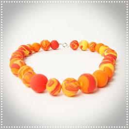 Fimo Halsschmuck orange
