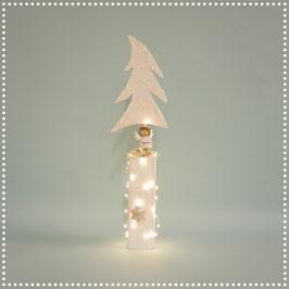 Weihnachtsbaum mit elektr. Beleuchtung   rosa, ca. 47 cm