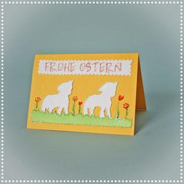 Osterkarte Schäfchen