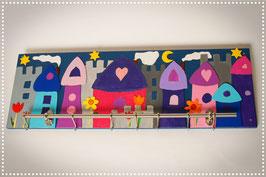 Kindergarderobe Häuser Bei Nacht 96 cm