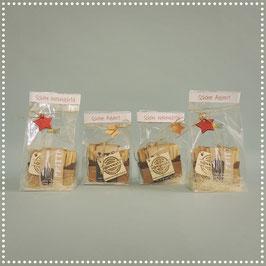 Weihnachts-Frittensäckli mit Anfeuerspriessen