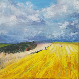 """Autumn Field at Winklebury, Berwick St. John"" AFWB01a"