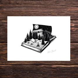 Abenteuerbuch | Signierter Druck