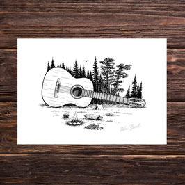 Waldgitarre | Signierter Druck