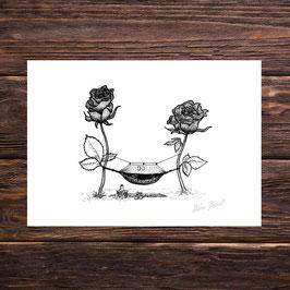 Rosenhängematte | Signierter Druck