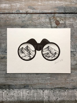 MOUNTAINS BINOCULAR | ORIGINAL ARTWORK