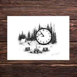 Halt die Zeit an | Signierter Druck