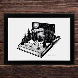 Abenteuerbuch | Signierter Druck im Rahmen