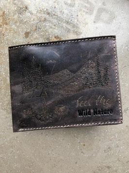 Geldbörse (Querformat-Riegel) | OVERNIGHTER dunkelbraun