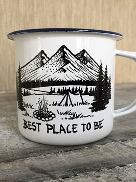BEST PLACE TO BE | HANDMADE ENAMEL MUG #1