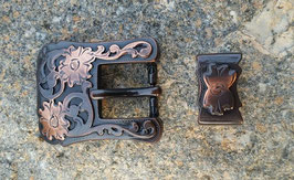 "Copper 3/4"" 19MM Western Buckle and Loop set ."