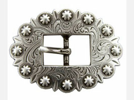 SRTP Antique Silver Cart Berry Centerbar Buckle