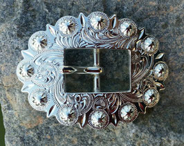 SP Bright Silver Cart Berry Centerbar Buckle