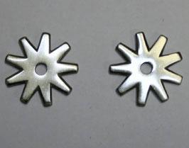 Sporenräder aus Edelstahl - SS Brushed - Typ 2 - 9 Point