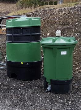 Quellsammelschacht aus Polyethylen 190 Liter