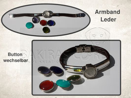 """2 Strang Leder - Armband"""