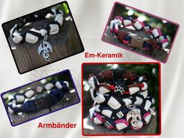 """""""EM-Keramik Armband geflochten"""""""