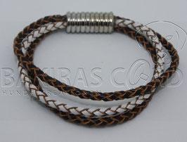 Leder Armband geflochten 3-fach - Sofortkauf