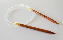 Rosewood Destiny Circular Needles 81 cm - Круговые спицы из красного дерева на леске 81 см
