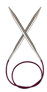 Knit Pro Nova Metal 60 cm - Металлические круговые спицы на леске 60 см