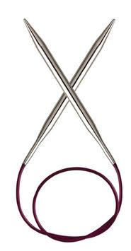 Knit Pro Nova Metal 50 cm - Металлические круговые спицы на леске 50 см
