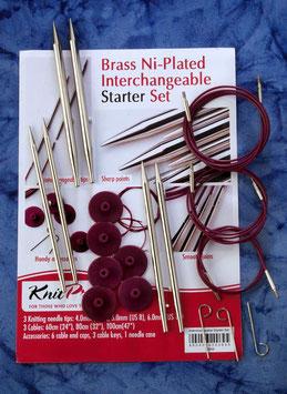 Knit Pro Nova Metal Starter - Набор разъемных металлически спиц, малый.