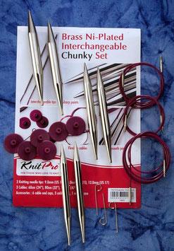 Knit Pro Nova Metal Chunky - Набор разъемных металлически спиц крупных размеров