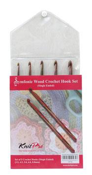 Knit Pro Symfonie Hook Set- Набор деревянных крючков