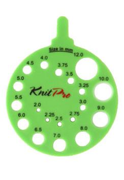 Knit Pro Sizer - линейка-измеритель для спиц
