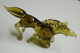 Artikelnummer : 000146/    Glasfigur,in form eines Pferdes ,  Handgefertigt