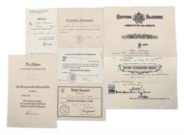 Artikelnummer : 000730/Urkundennachlass des Werkmeisters Oskar Ullmann Berlin