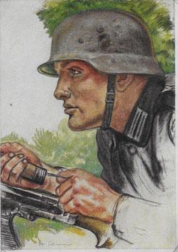 Artikelnummer : 01381 Postkarte Unsere Panzerwaffe
