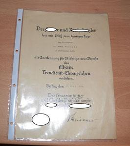 Artikelnummer : 02300 Treudienst-Ehrenzeichen  für 25-jährige