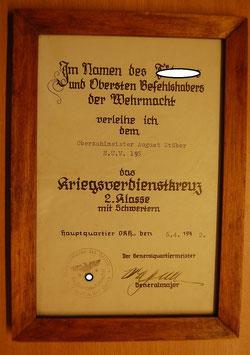 Artikelnummer: 00595 Verleihung des Kriegsverdienstkreuzes 2. Klasse mit Schwertern