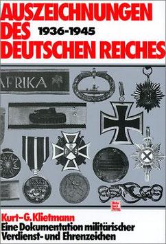 Artikelnummer: 00669 Auszeichnungen des Deutschen Reiches 1936-1945