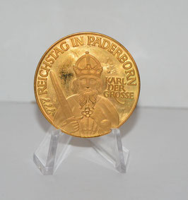 Artikelnummer: 02012   / 1200 jahre   Paderborn Medaille vergoldet