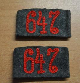 Artikelnummer: 01807   Schulterklappen Überschübe Art.-Regt. 647