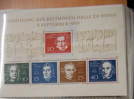 Artikelnummer : 000094/Blockausgabe zur Einweihung der Beethovenhalle in Bonn